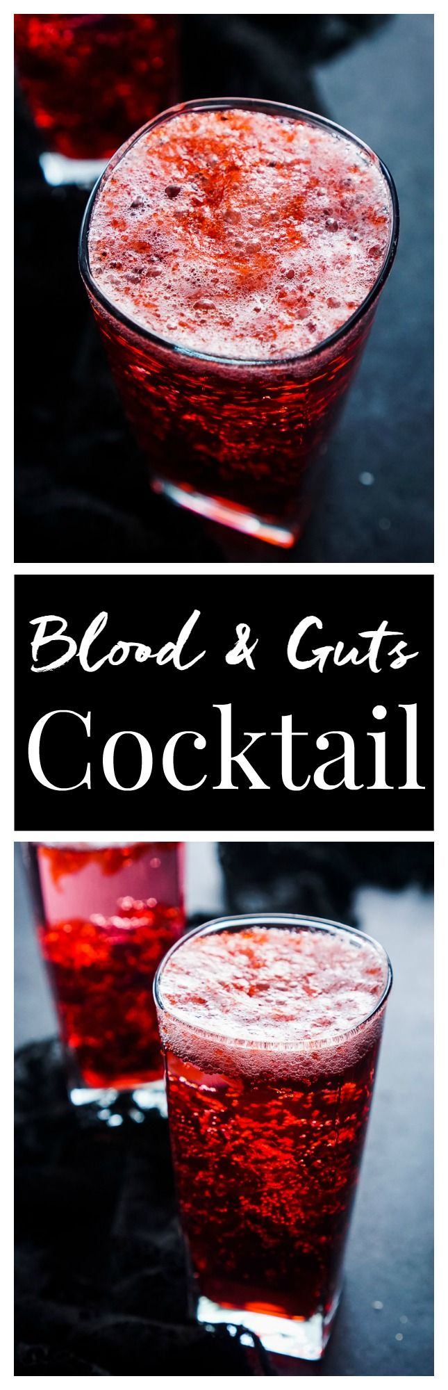 This Blood and Guts Cocktail is an easy and fun drink to add to your Walking…