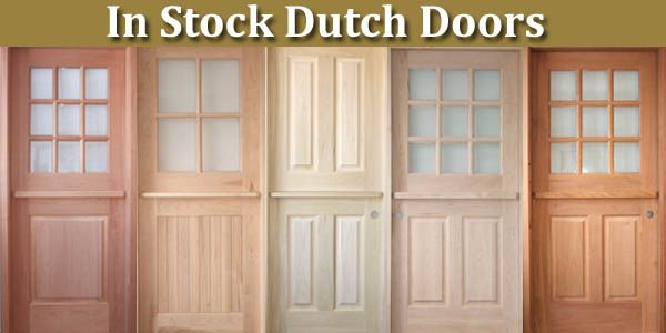Dutch Door with Screen | In Stock Dutch Door