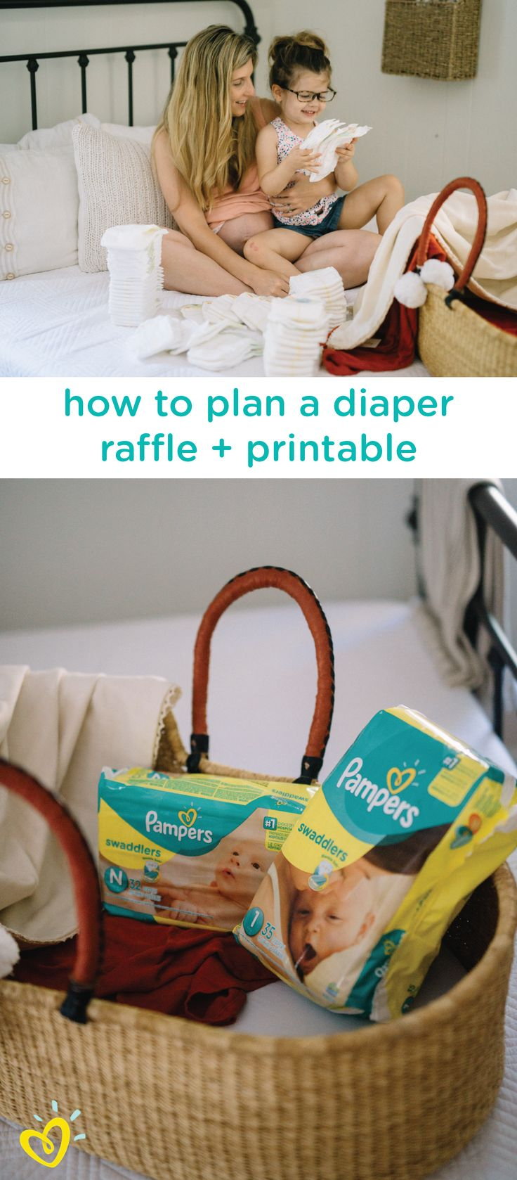This DIY diaper raffle can be such a fun baby shower game for your friends and family to enjoy. Use these free printables to raffle off themed gift baskets to every guest who brings a package of Pampers Swaddlers diapers to your party. Click here to learn more.