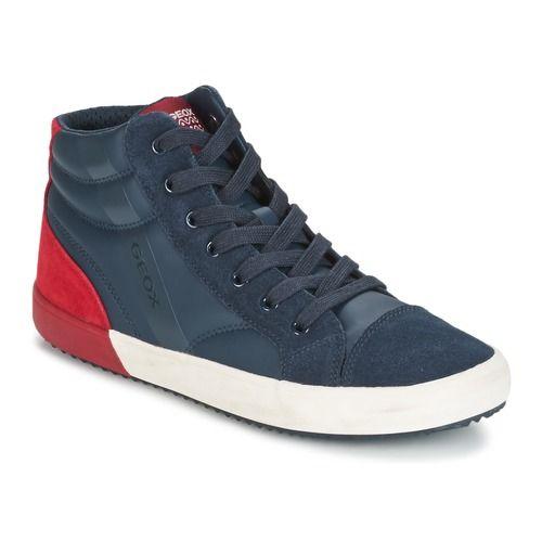 Zapatos Niño Zapatillas altas Geox J ALONISSO B. A Marino / Rojo