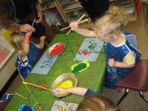 @Lauren Davison Davison Brochinsky for camp, just an idea...fishing pole painting! Great for a beach theme!