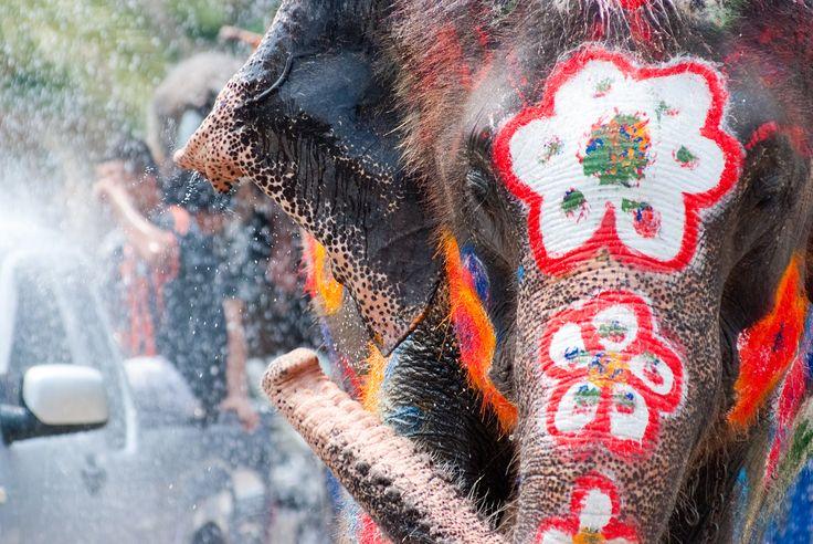 Songkran 2017 Neujahr in Thailand Wasserfest