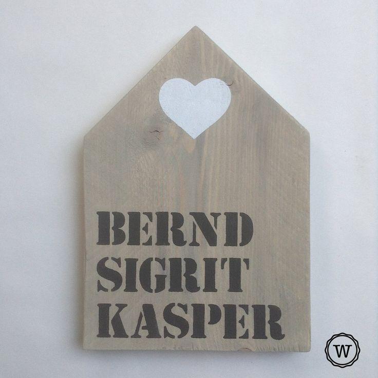 #naambord #steigerhouten #huis, een persoonlijk en warm welkom!