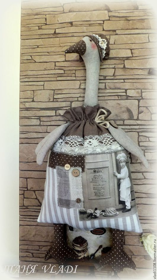 Кухня ручной работы. Ярмарка Мастеров - ручная работа. Купить Старые рецепты  (пакетница). Handmade. Гусь-пакетница, хранение пакетов