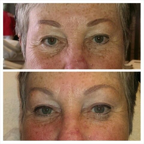 Eyeliner boven, voor en na!