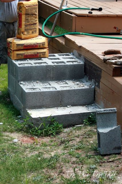 Top This Top That: DIY Stone Steps