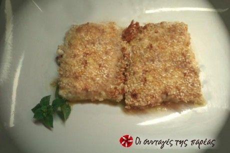 Φέτα σαγανάκι με σουσαμένια κρούστα