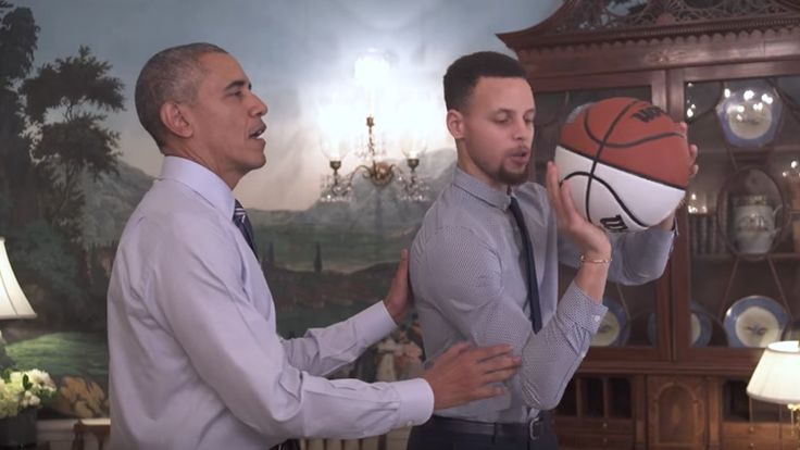 President Barack Obama Mentors Stephen Curry at the White House