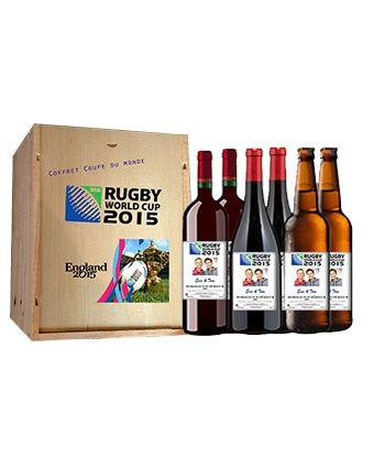 Découvrez le Coffret Coupe du monde de Rugby 2015 avec étiquettes personnalisées et profitez de ce moment convivial et sportif ! http://www.mabouteille.fr/coffret-coupe-monde-rugby-2015-p-462.html