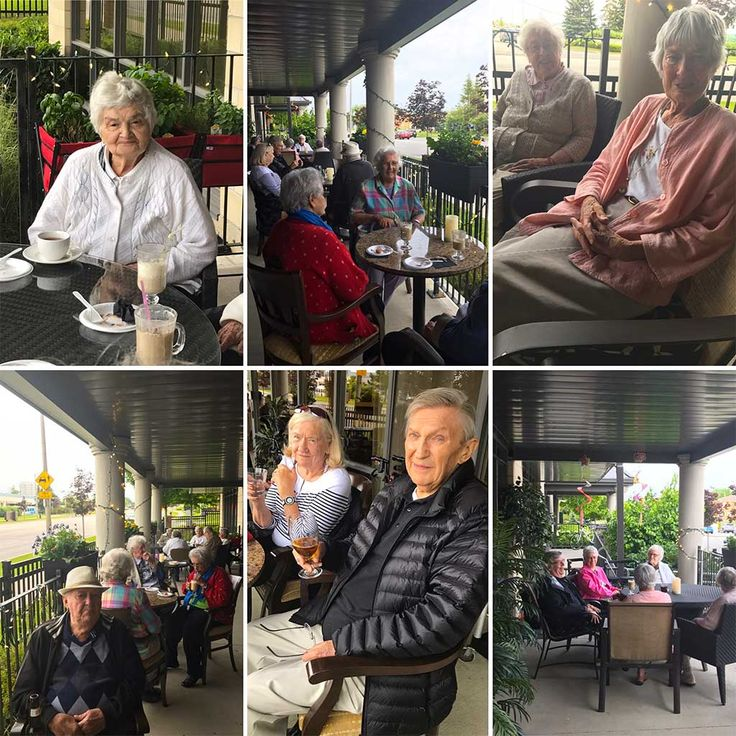 The residents at Richmond Hill Retirement Residence relaxed under the stars tonight on our beautiful patio tonight with speciality coffees and pasteries #eveningfun