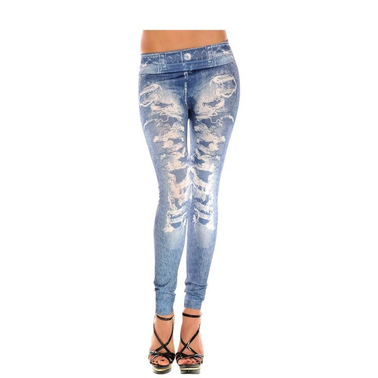 ISASSY New Sexy Womens Leggings /Jeans Graffiti Jeggings Stretchy Skinny Pants Printed Pattern Legwear Tights, 27 Designs Ladies Fashions Demin Look, ONE Size Super Slim Jeggings,: Amazon.co.uk: Clothing