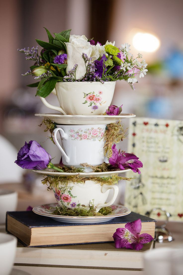 teacup centerpieces centerpieces for wedding Disney Loving Couples Will Melt Over These Magical Wedding Centerpieces