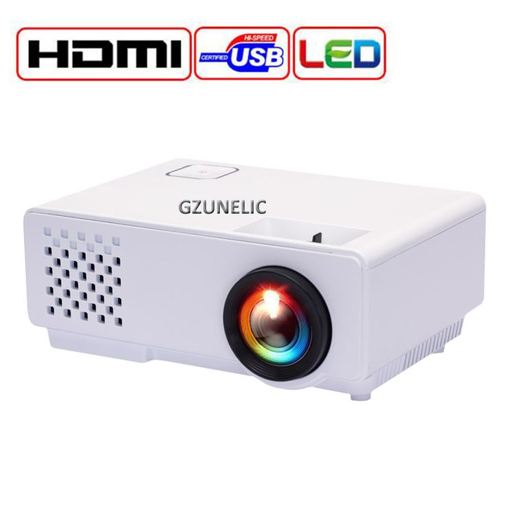 GZUNELIC New Home Theater Pico Cheap Digital HD 1080P mini Portable HDMI USB LCD LED Video Projector Beamer Projetor Proyector