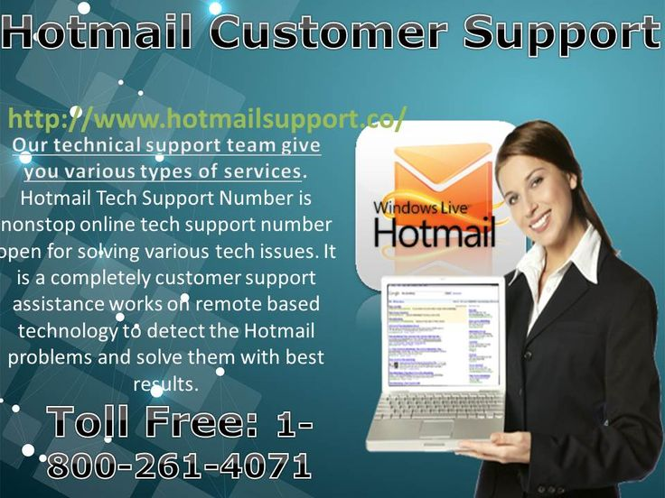 All the Hotmail tech issues like login error, password change or password and spam mail removal related various issues. It is a back-to-back online assistance open for different home and office users facing tech issues. The customer support service is performed by team of independent technicians to fix various levels of errors as per the customize needs of users.  Call us: 1-800-261-4071     and for more information Visit: http://www.hotmailsupport.co/