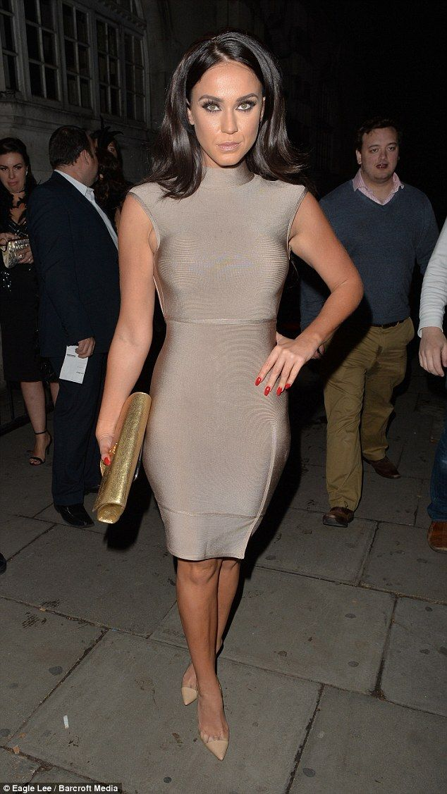 Figure-hugging: Vicky Pattison put on an attention-grabbing display when she partied in London on Saturday
