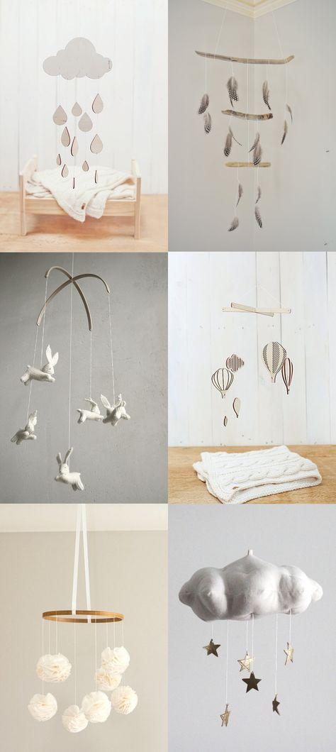 Zauberhafte Mobile-Ideen. #idee #diy ämobile #kinderzimmer #baby #einrichten #inspiration >>LOVE these!! Neutral Nursery Mobiles — Lily and Spice Interiors