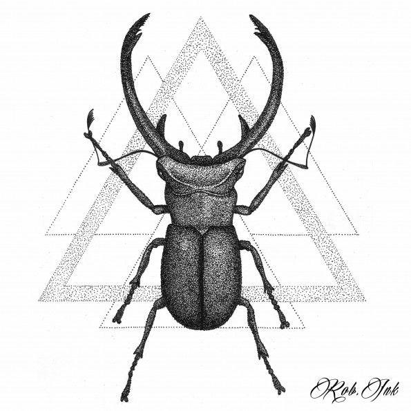 Beetle Dotwork