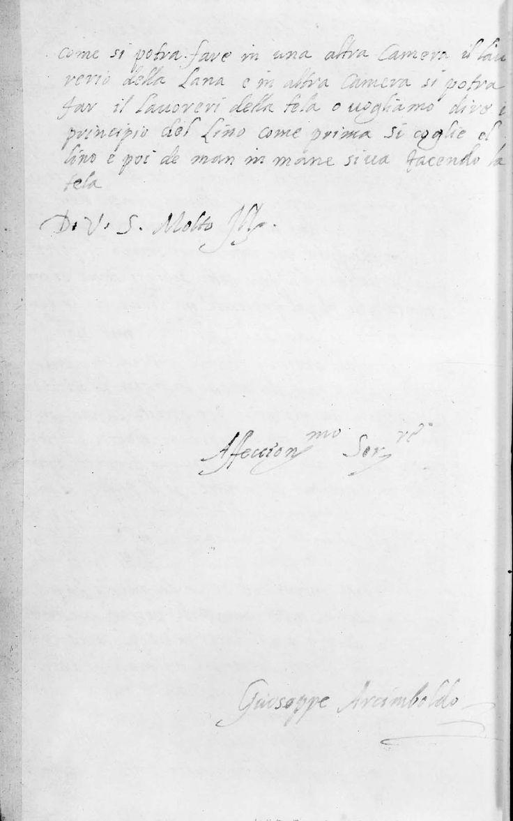 Lettera di Arcimboldo