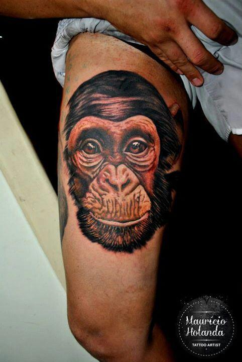Best 25 monkey tattoos ideas on pinterest chain tattoo for Monkey face tattoo