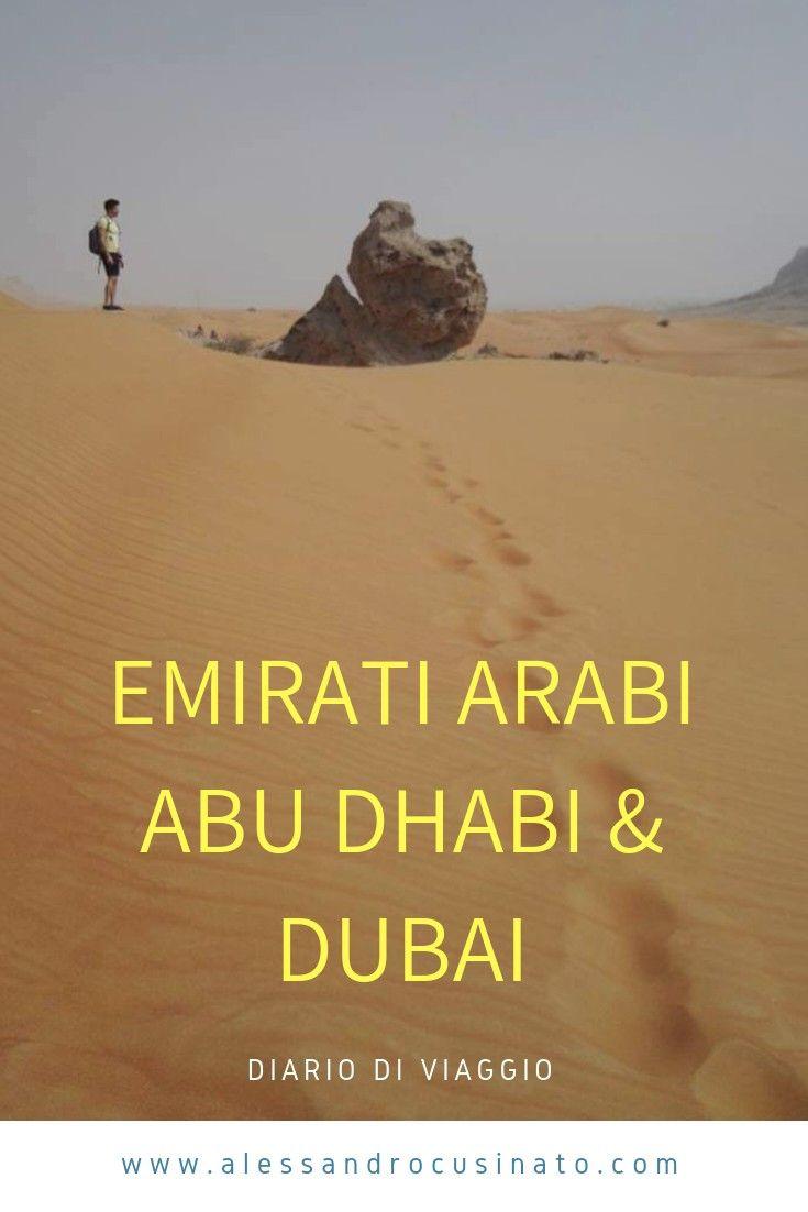 Emirati Arabi- Abu Dhabi & Dubai-  diario di viaggio