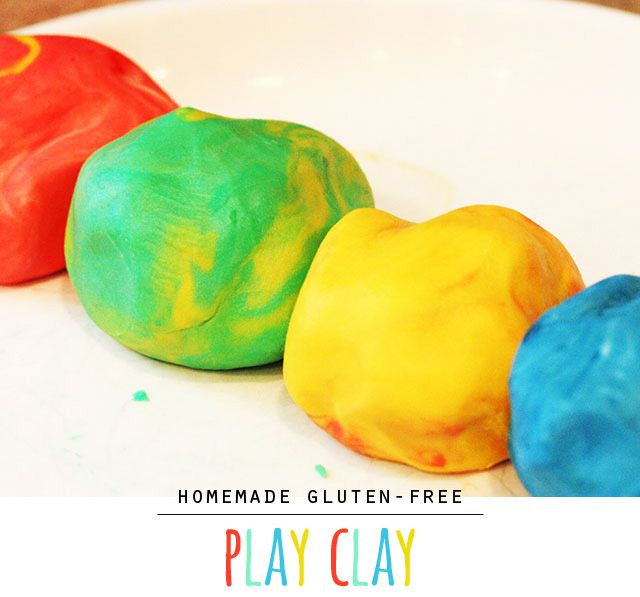 How to make your own play clay, and it's gluten-free too.