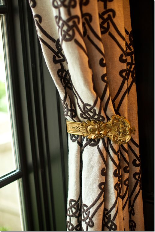 gold tie back for curtains