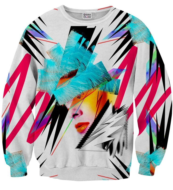 Pop-art Face sweater, Mr. GUGU & Miss GO