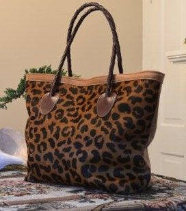 LARGE Cheetah Hair on Hide Leather Purse by LeatherLinkStudio