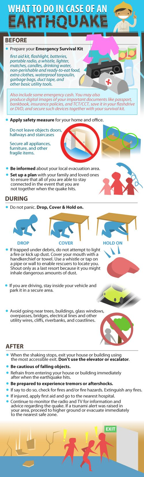 Earthquake Preparedness Tips INFOGRAPHICS Source: http://energizepinas.com/earthquake-preparedness-tips/#
