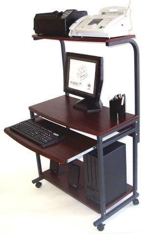 "Compact Mobile Computer Desk w/ Printer Shlf; 18"" D 32"" W S7801. Compact Mobile Computer Desk w/ Printer Shlf; 18"" D 32"" W S7801."