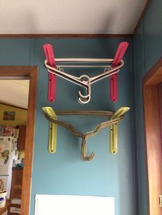I looked every where for hanger organizers because I could never find a good place! Now I have one! The came in white and I spray painted them to match!