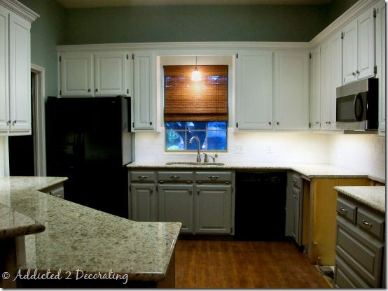 Top cabinets alabaster by sherwin williams bottom Best white paint for kitchen cabinets behr