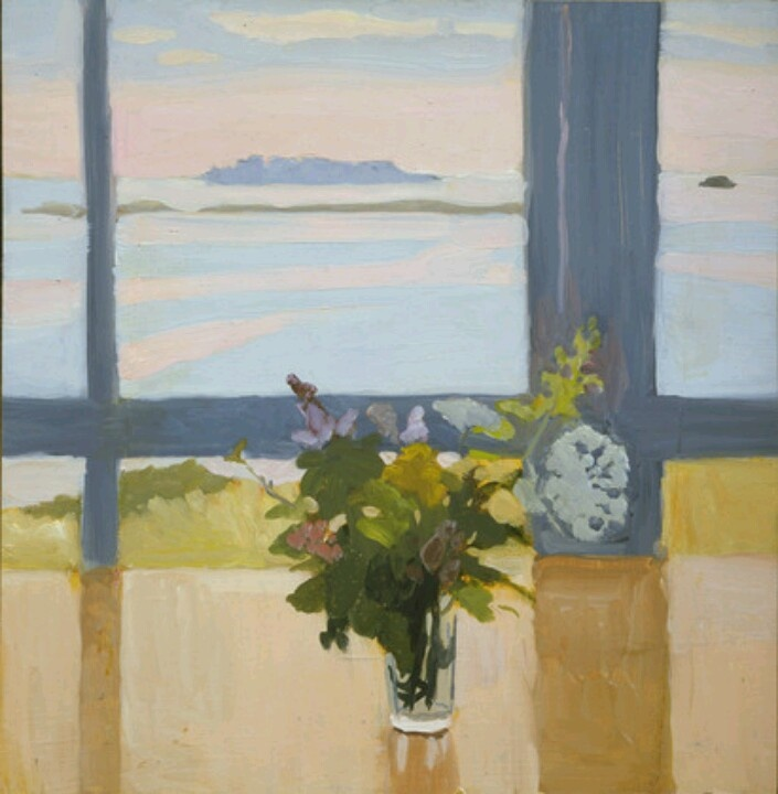 Fairfield Porter (American, 1907-1975) - Flowers by the Sea, 1965