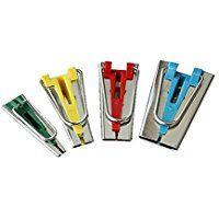 Foxnovo Un Set di 4 dimensioni tessuto nastro Bias responsabili associazione strumenti per cucire trapunte 6mm 12mm 18mm 25mm