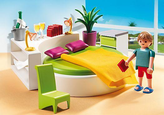 Playmobil City Life. Chambre avec lit rond.