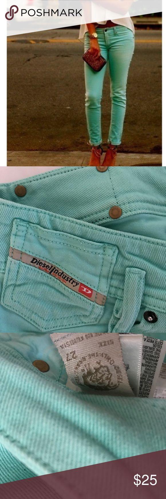 DIESEL MINT GREEN JEANS SZ. 27 Amazing mint green diesel  jeans. Great color and look great on. Diesel Jeans Skinny