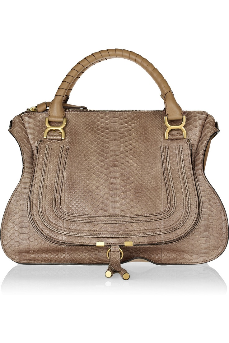 Chloe Marcie Large python and leather tote - gorgeous! Named my ...