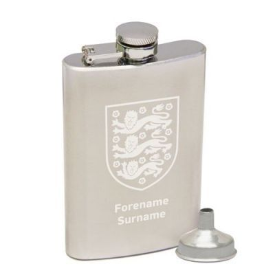 Personalised England Crest Hip Flask #England #Football #SportsGifts £29.95