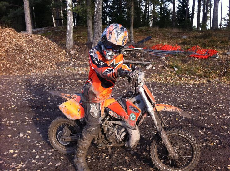 My son on his motorcross