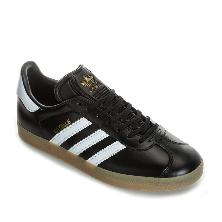 Mens Gazelle Leather Trainers | Leather trainers, Adidas casual ...