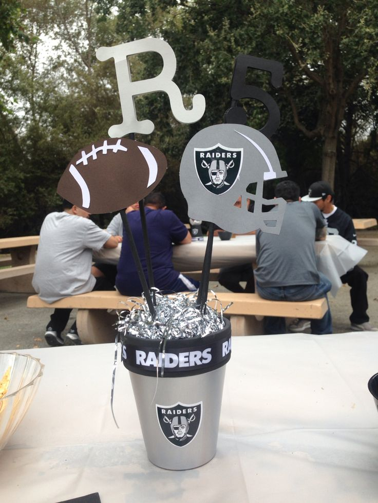 Oakland Raiders Centerpiece