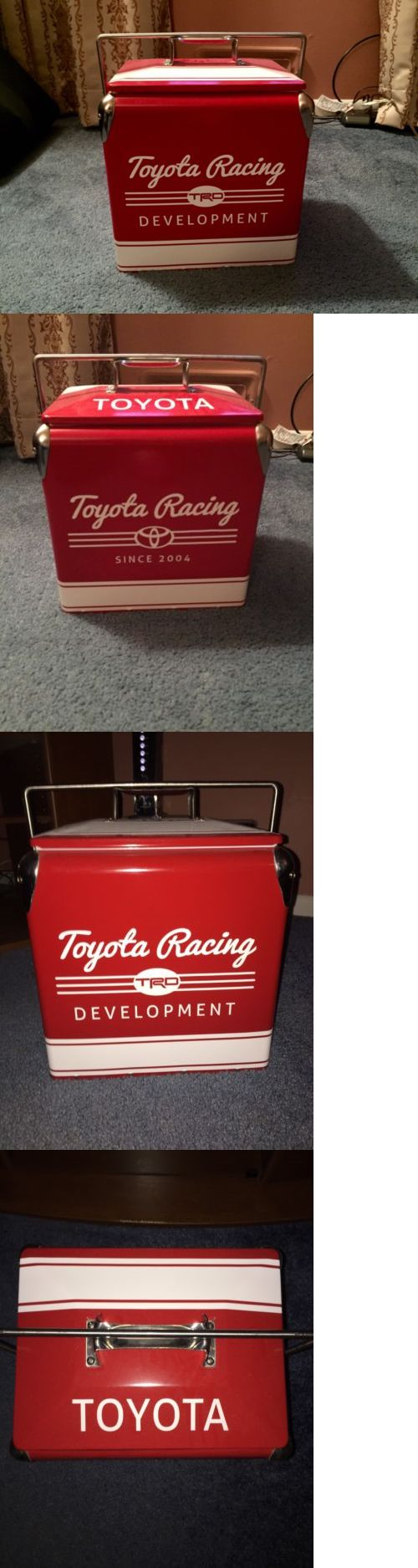 Other Camping Cooking Supplies 16036: Toyota Racing Development Trd Metal Cooler New 11 X11 X8 Rare Nascar -> BUY IT NOW ONLY: $125 on eBay!
