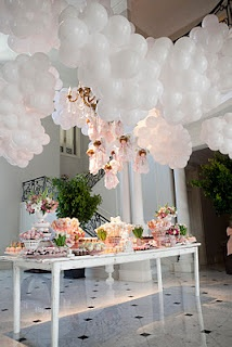 So frothy and fluffy...ceiling balloons