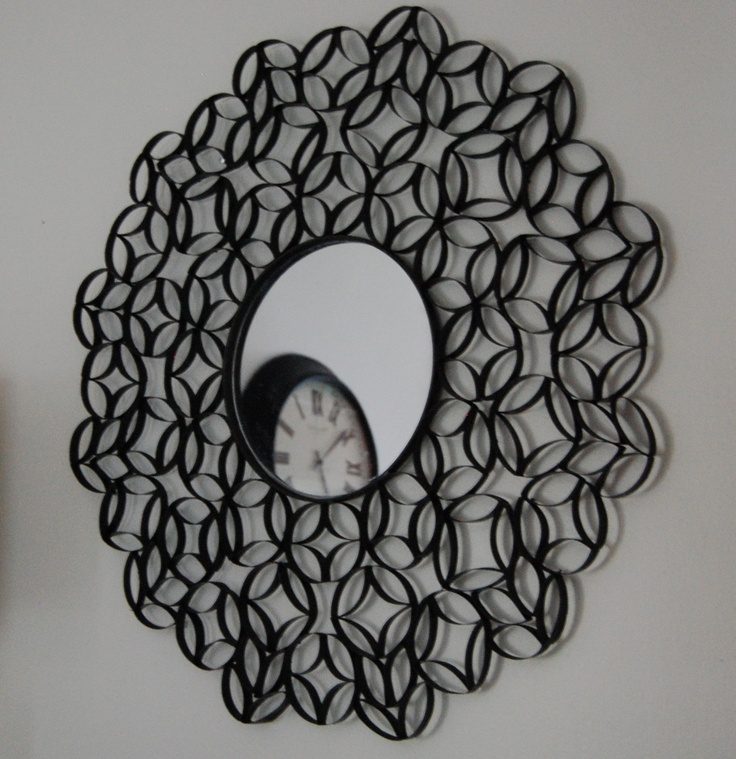 Toilet Paper Roll Wall Art just spray paint and voila!