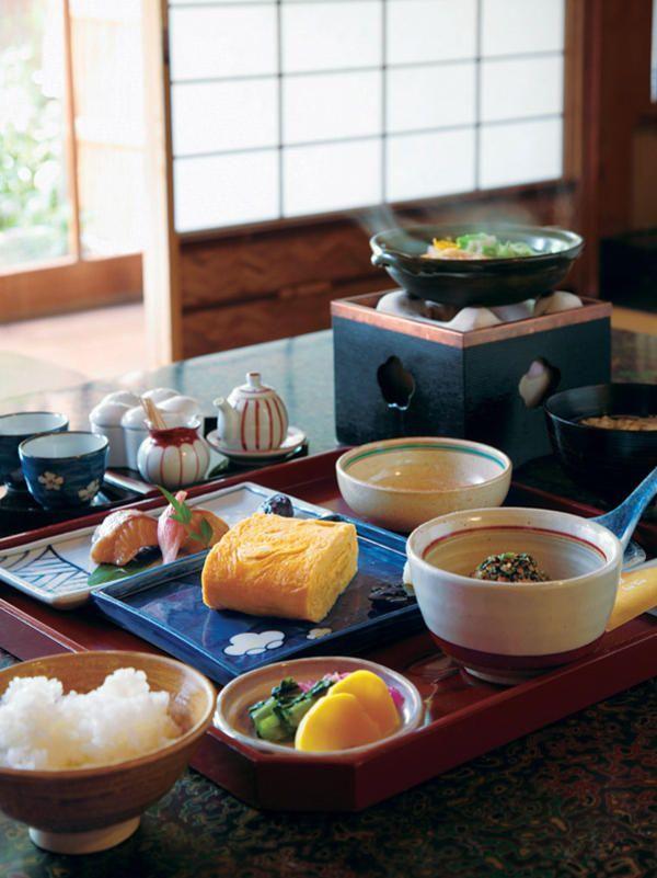 Breakfast at a Japanese-style inn, Kyoto