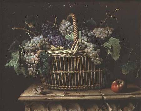 Pierre Dupuis-A Basket of Grapes