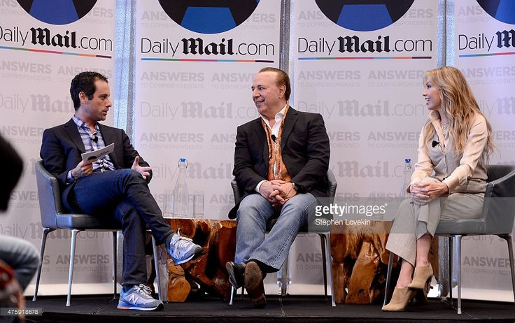 DailyMail.com North America, Jon Steinberg, Tommy Mottola and Thalia Sodi speak at the DailyMail.com Answers To Correspondents With Tommy Mottola And Thalia Sodi at Riverpark Restaurant on June 4, 2015 in New York City.