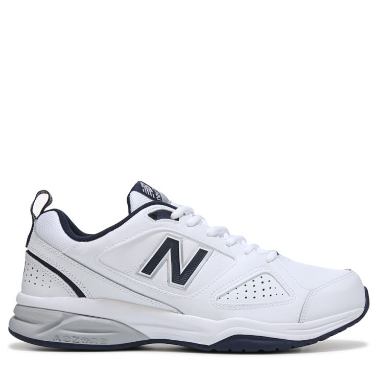New Balance Men's 623 V3 Medium/Wide/X-Wide Sneakers (White/Navy Leather)