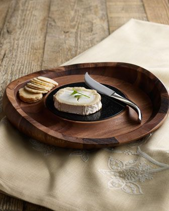 """Butterfly"" Cheese Tray by Nambe at Neiman Marcus."