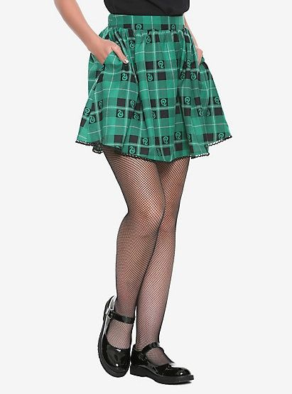 b436e6e5ced148 Harry Potter Slytherin Plaid SkirtHarry Potter Slytherin Plaid Skirt, PLAID